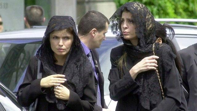 The funeral of Princess Leila in Paris, June 2001 (Photo: AP)