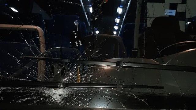 ירי לעבר אוטובוס בבית אל (נתנאל קאופמן, TPS)