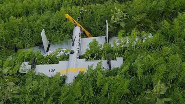 Летательный аппарат террористов на поле в Негеве