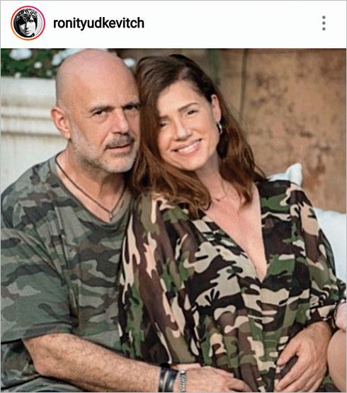 """""""הפרש של 11 שנה זה כלום"""". עם בן זוגה אלי ברק (צילום: מתוך האינסטגרם של ronityudkevitch@)"""