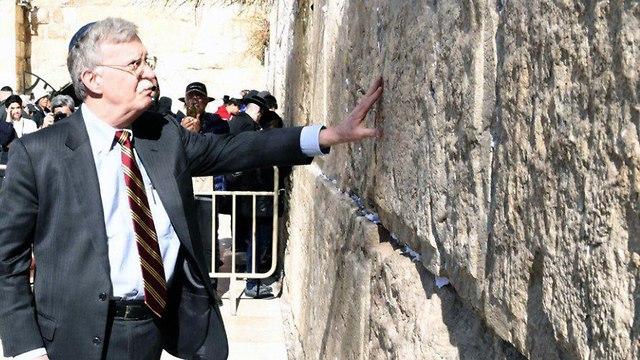 John Bolton at the Western Wall in Jerusalem, January 6, 2019