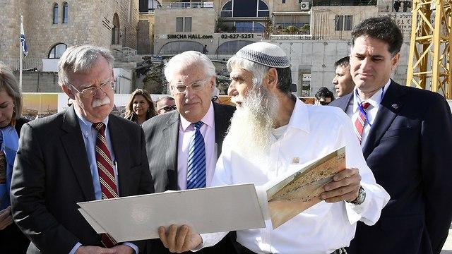 Джон Болтон и Дэвид Фридман в Иерусалиме. Фото: Мэтти Стерн, посольство США в Израиле