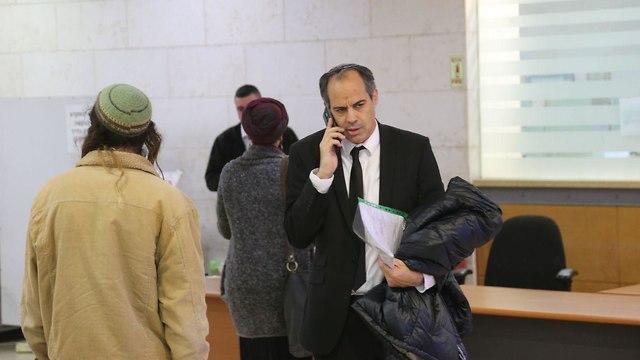 Attorney Adi Keidar in court representing suspects in Jewish terrorism (Photo: Motti Kimchi)