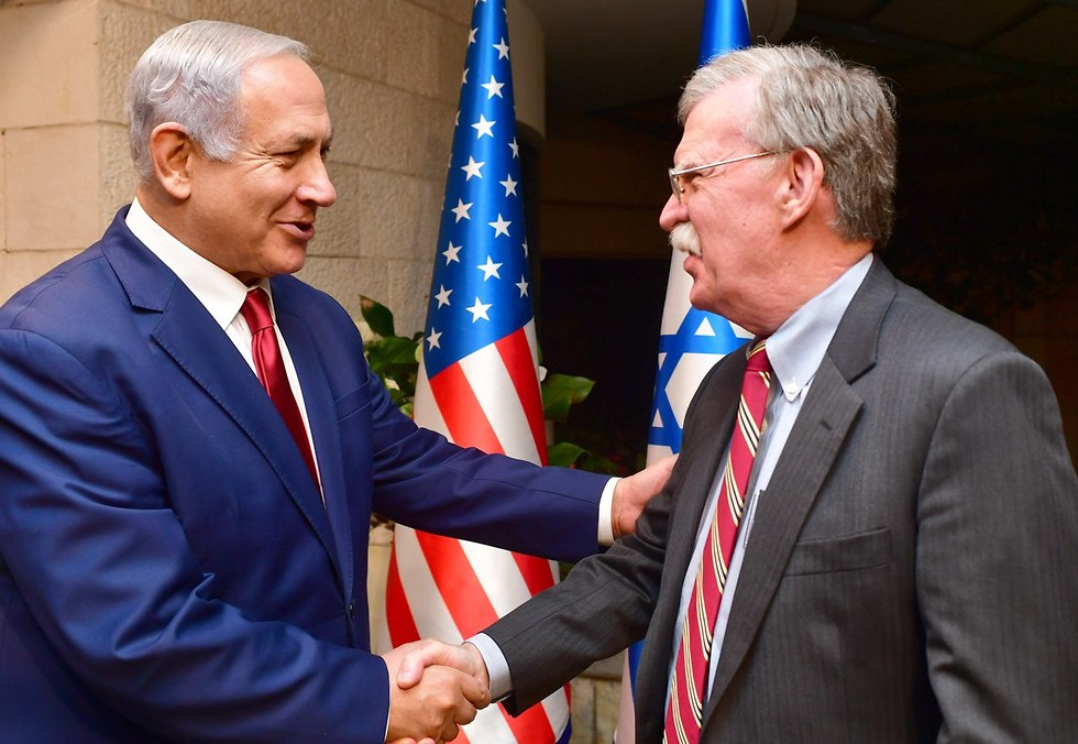 Trump's national security adviser John Bolton and Prime Minister Benjamin Netanyahu  (Photo: GPO)