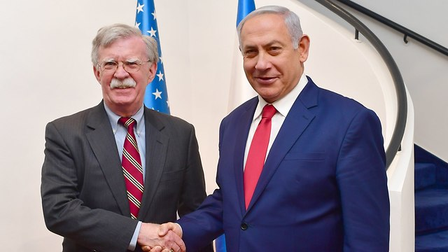 U.S. National Security Advisor John Bolton (L) and Prime Minister Benjamin Netanyahu (Photo: Kobi Gideon/GPO)