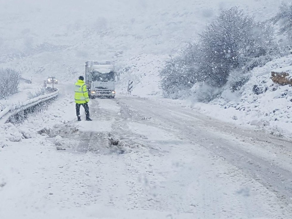Snow on the Golan Heights (Photo: Israel Police) (Photo: Police)