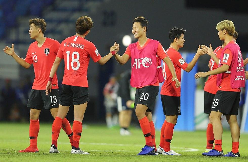 נבחרת דרום קוריאה (צילום: AP)