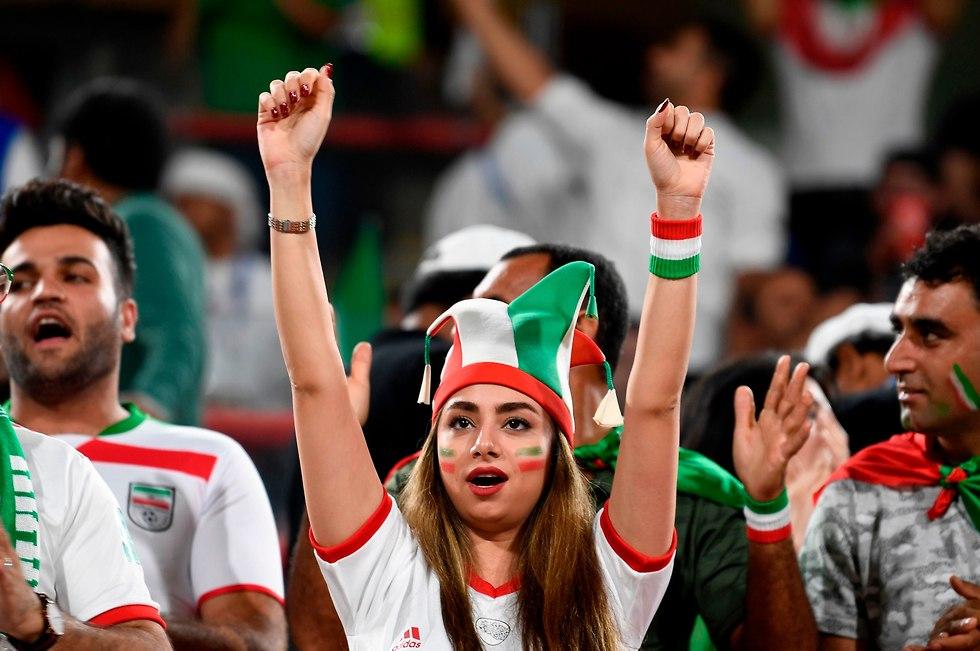 אוהדת נבחרת איראן (צילום: AFP)