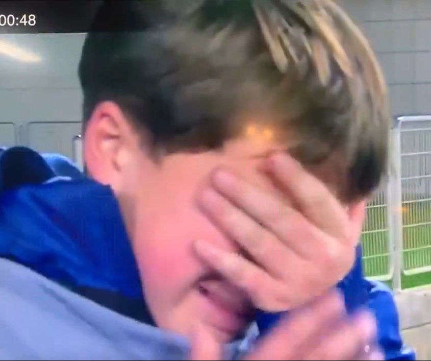 הילד בוכה  (צילום מסך)