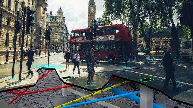 Картографическая съемка Лондона (иллюстрация)