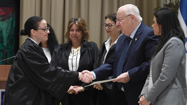 President Reuven Rivlin congratulates Israel's new judges, January 8, 2019 (Photo: GPO)