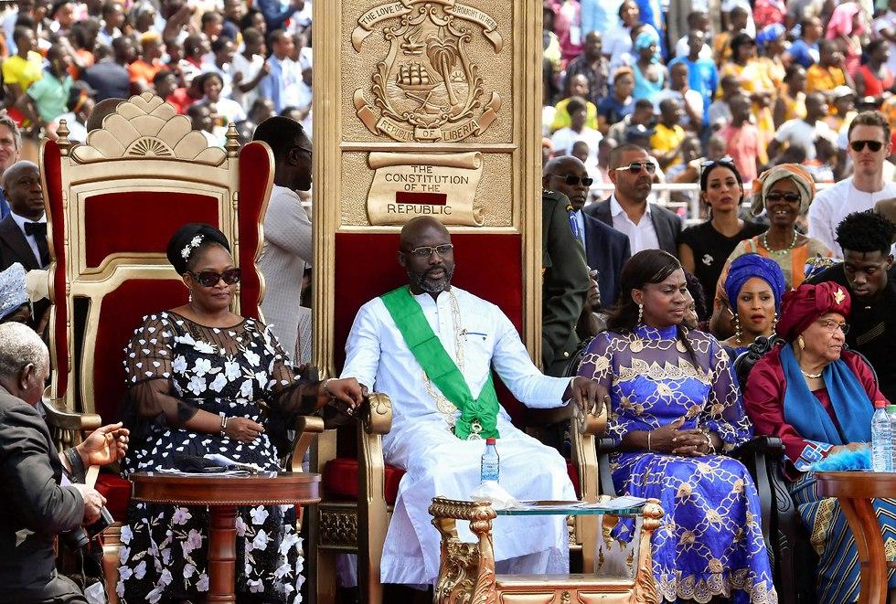 ג'ורג' וואה כנשיא ליבריה (צילום: AFP)