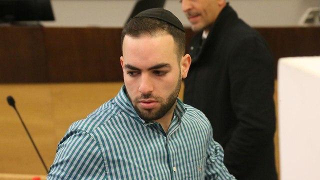 הנאשם בדריסתו של אילון שלו-אמסלם, אלי בר-זכאי בדיון במחוזי ת