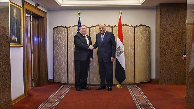 Mike Pompeo and Egypt's Foreign Minister Sameh Shoukry  (Photo: AP)