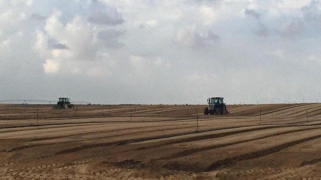 חקלאים בשטחי אש בעוטף עזה ()