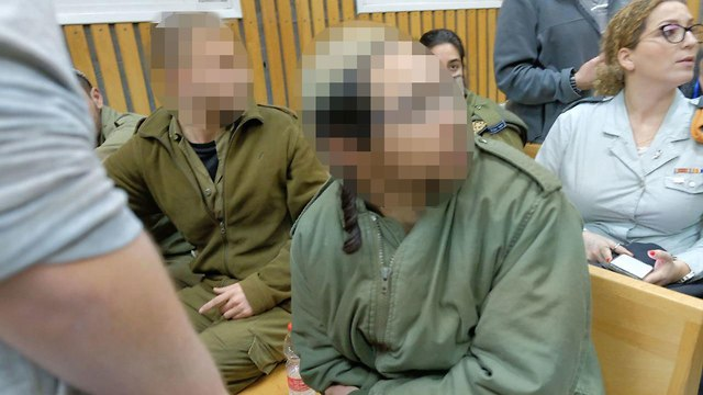 One of the soldiers suspected of beating Palestinian detainees (Photo: Shaul Golan)