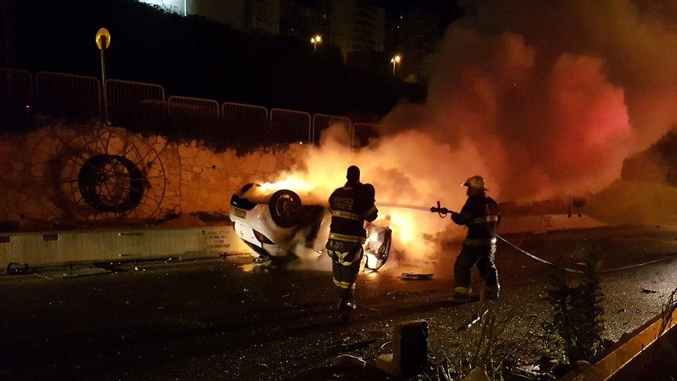 Место аварии в Хайфе. Фото: МАДА