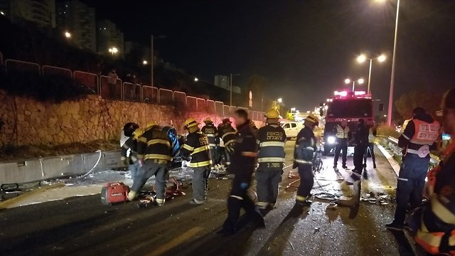 Авария в Хайфе. Фото: МАДА