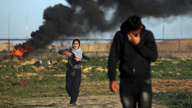 מהומות יום בגבול עזה (צילום: רויטרס)