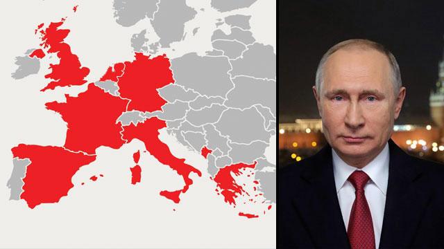 מדינות ב אירופה בהן רוסיה לכאורה התערבה ב בחירות (צילום: רויטרס, shutterstock)