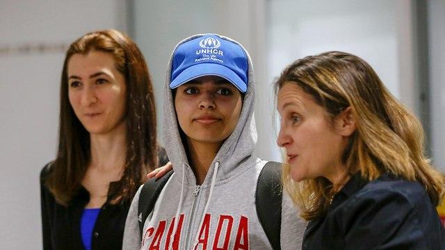 קנדה סעודיה קבלת פנים ל סעודית הבורחת רהף אל קונון (צילום: רויטרס)