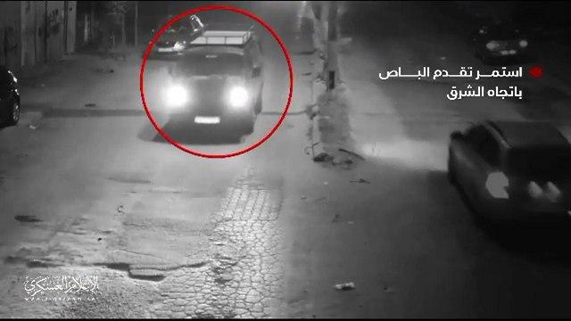 A still taken from Hamas footage of the IDF raid in Khan Yunis in November 2018