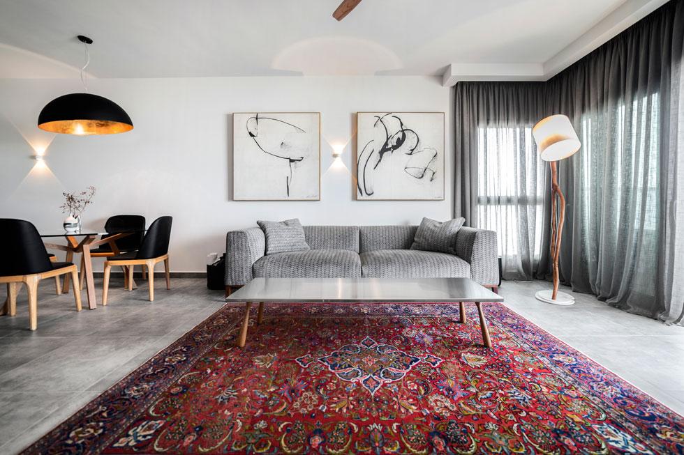 עיצוב: חיה חנן, שטיח מהגלריה לווינטג' של נויה כרמל בגבעת ברנר (צילום: אסף ברנר)