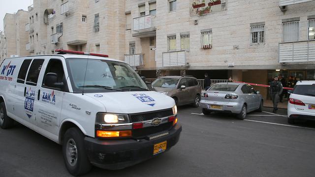 חשד לרצח בירושלים (צילום: עמית שאבי)