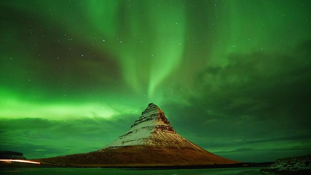 איסלנד תאונות דרכים הזוהר הצפוני  (צילום: MCT)