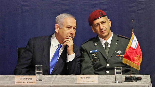 Prime Minister Netanyahu and new IDF chief Kochavi (Photo: Reuters)