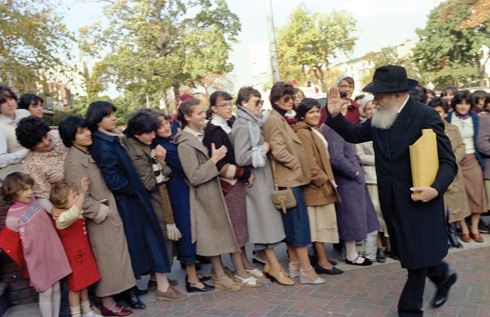 הרבי מלובביץ', 1981 (צילום: JEM/ THE LIVING ARCHAIVE)