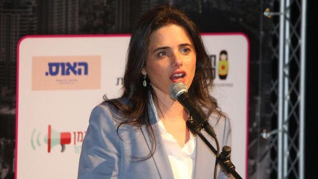 איילת שקד בוועידת ישראל לנשים ועסקים (צילום: יריב כץ)