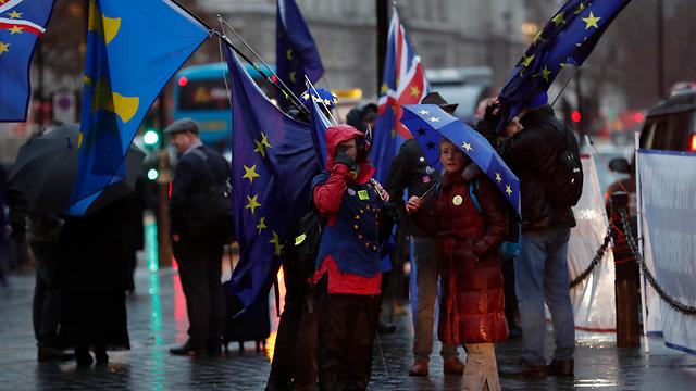 מתנגדי ה ברקזיט מפגינים ב לונדון בריטניה (צילום: AP)