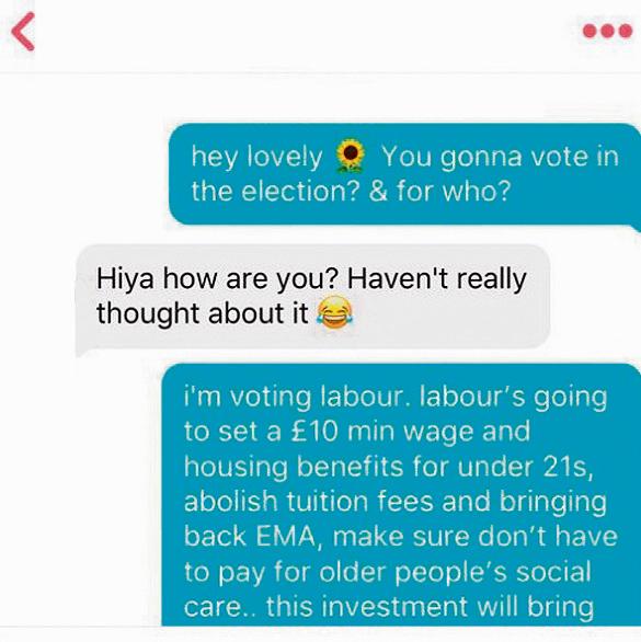 """דוגמה לשימוש שמפלגת הלייבור עשתה בטינדר בבחירות. נעם רותם: """"ככל שנתקרב לבחירות זה ילך ויחמיר"""""""
