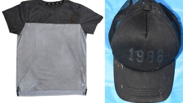 Items worn by the killer (Photos: Victoria Police, Australia)