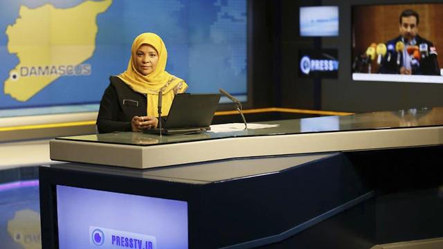 Marzieh Hashemi at the Press TV studio in Tehran