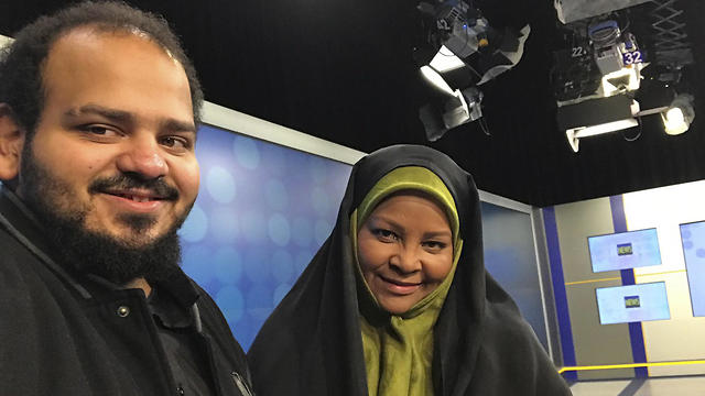 American-born news anchor Marzieh Hashemi and her son in Tehran