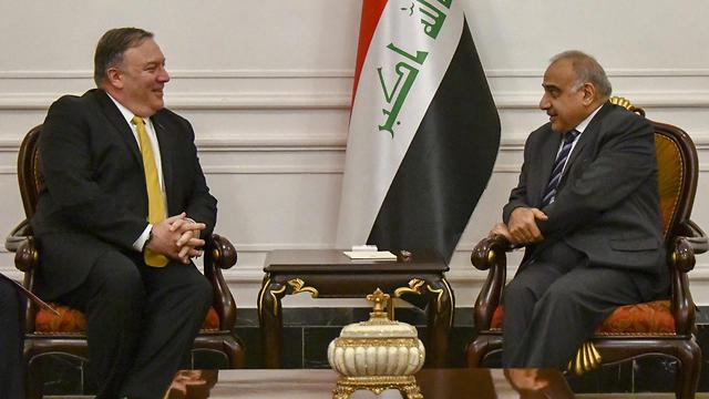 מזכיר המדינה האמריקני וראש הממשלה העיראקי (צילום: EPA)