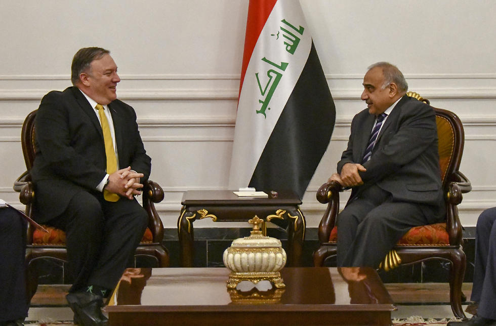 Iraqi Prime Minister Adil Abdul-Mahdi meeting with American Secretary of State Mike Pompeo (Photos: Reuters )
