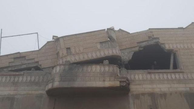Дом Джабарина после подрыва зарядов
