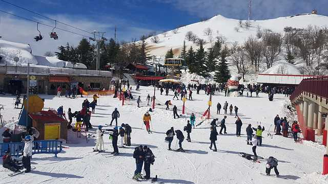 Tourists at the Mt. Hermon ski resort (Photo: Mt. Hermon management)