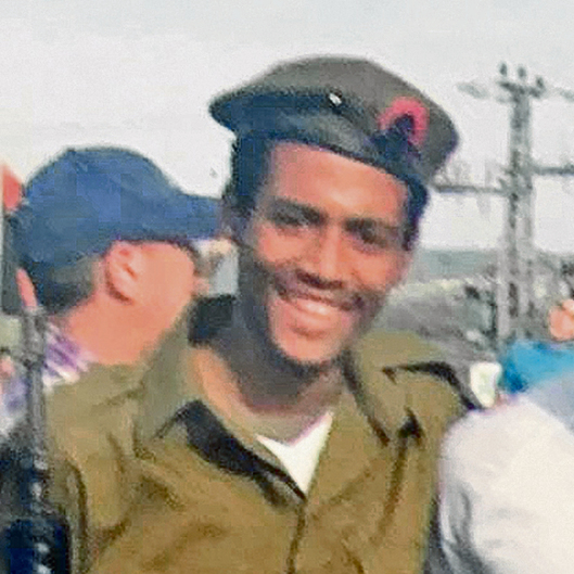 Yehuda Biadga serving in the IDF