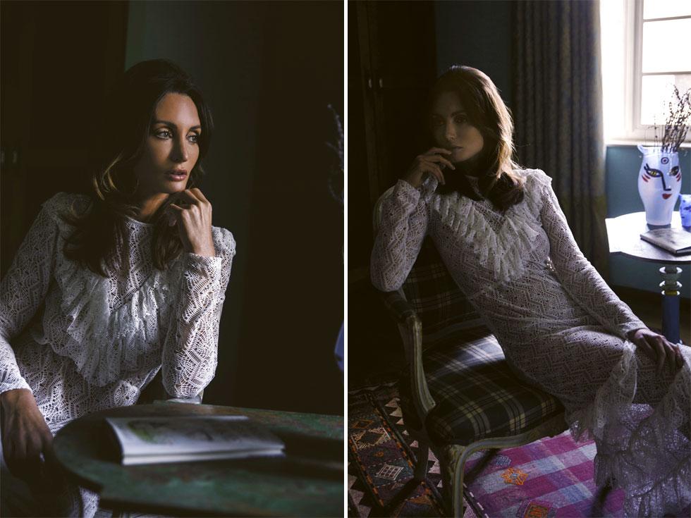 המורשת האופנתית של שרון טייט בהפקת אופנה מיוחדת בהשראתה. שמלה, סבינה מוסייב  (צילום: רותם לבל)