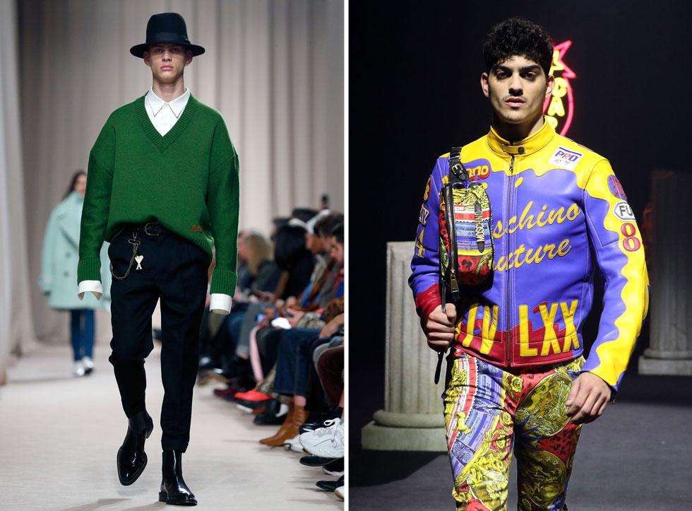 זה זמן מה שהדוגמניות הישראליות נפקדות משבועות האופנה בעולם, אך במקומן זכינו לראות כעת את דור הדוגמנים החדש כובש את מקומו על המסלולים לגברים, כמו אלמוג ריף שכיכב בתצוגה של מוסקינו ברומא, ורוסלן וסילב בבכורה אצל פיליפ פליין, SSS World Crop של ג'סטין אושאה והמותג הצרפתי AMI (צילום: Elisabetta Villa,Thierry Chesnot/GettyimagesIL)