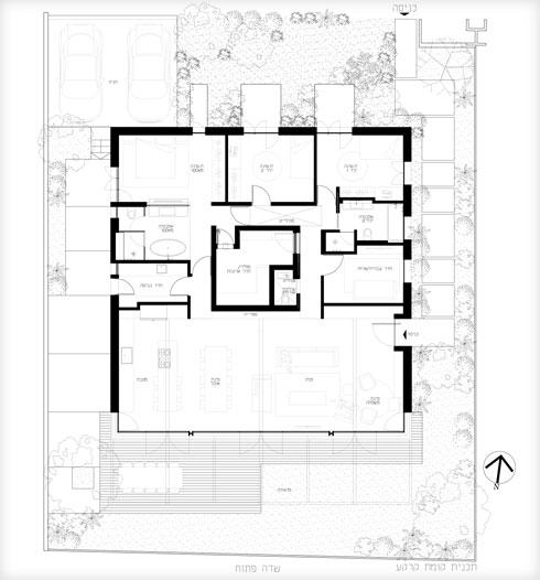 תוכנית המגרש (תוכנית: יעקבס-יניב אדריכלים)