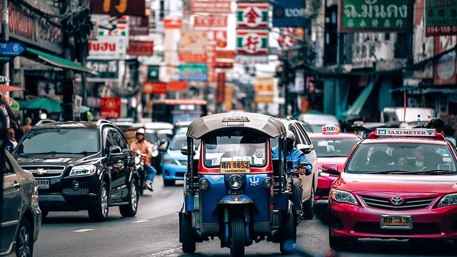 כלי התחבורה הנפוץ בבנגקוק - טוקטוק (צילום: shutterstock)