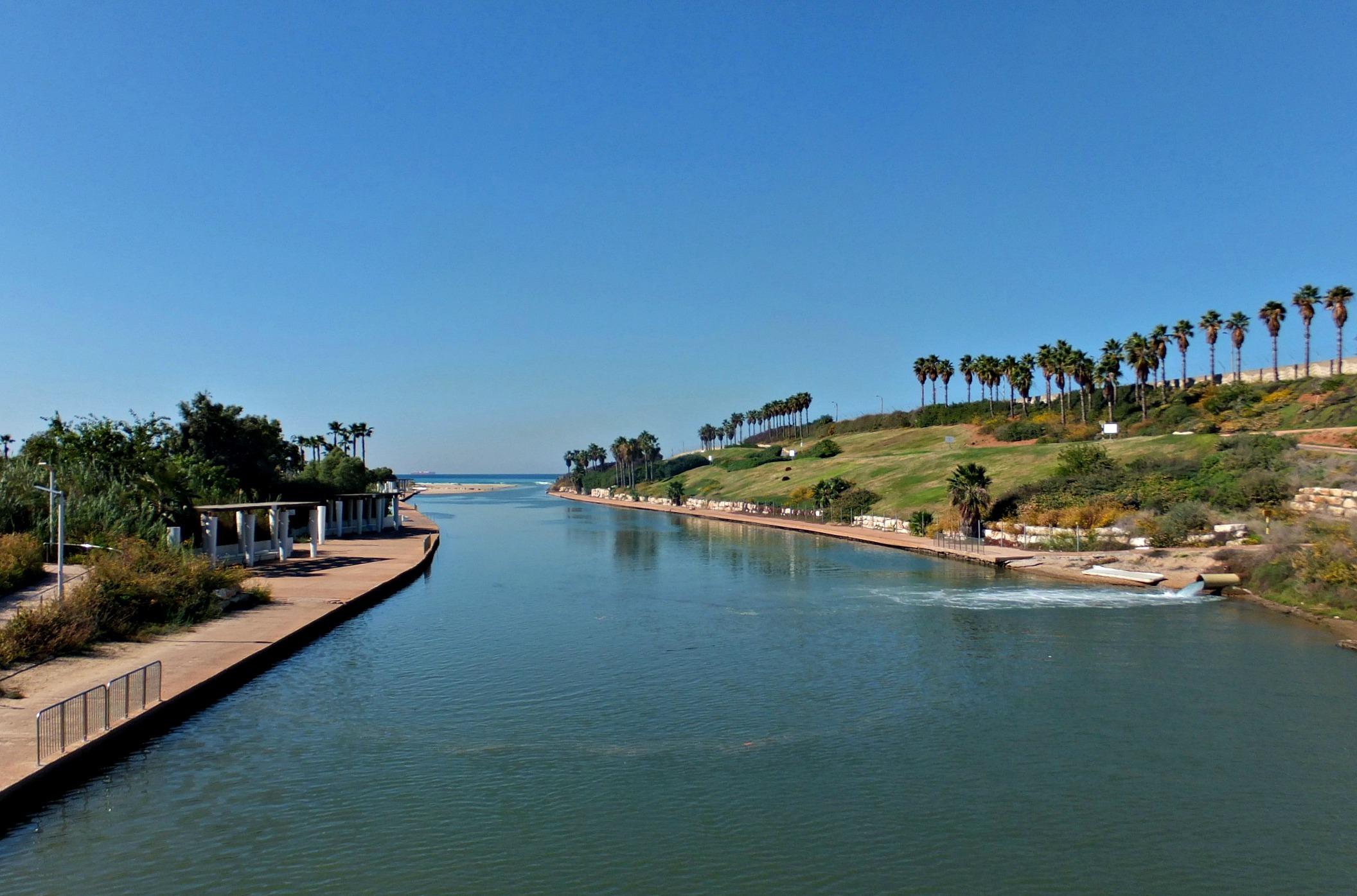 Устье реки Хадера в парке. Фото автора