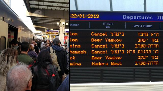 עומסים ברכבת (צילום: : קרן דנינו, דניאל ברם )