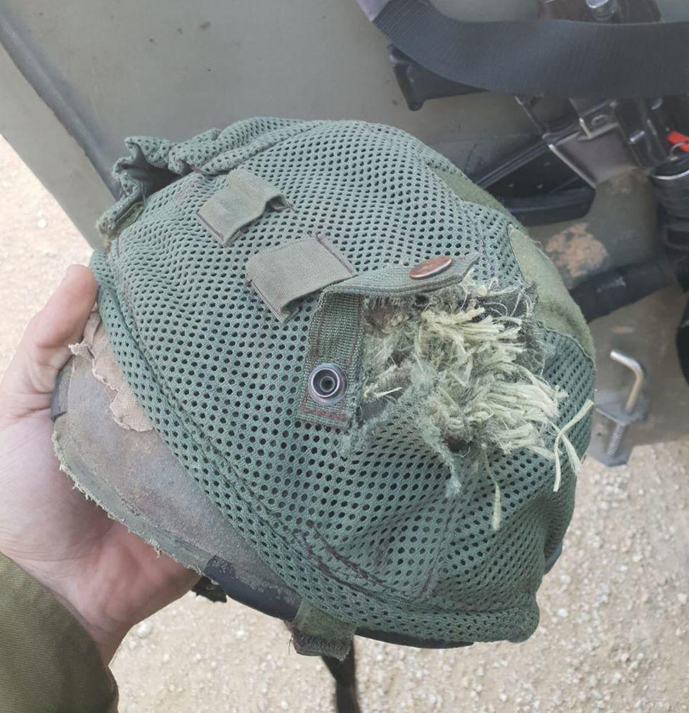 The helmet that stopped a bullet from a Gaza sniper