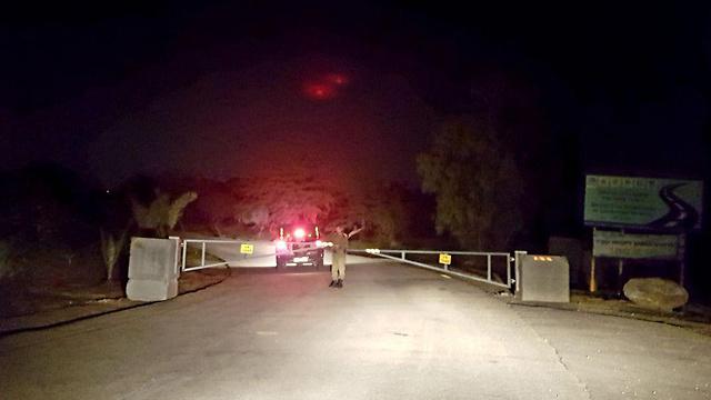 Перекрытое шоссе у границы с Газой. Фото: Рои Идан